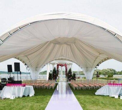 Nuomuojame Arkinės palapinės 14x16 Vestuvėse