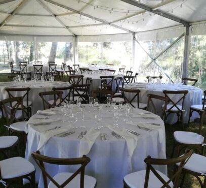 Modulinių palapinių ir baldų nuoma vestuvėms
